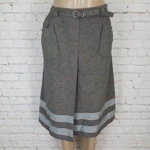 Hugo Boss Skirt Gray Virgin Wool Angora 12